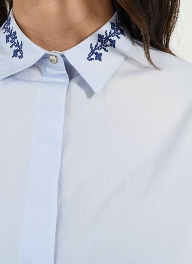 Nakış Detaylı Gömlek-People By Fabrika